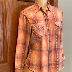 Ladies Roper Western Rodeo Country button up shirt